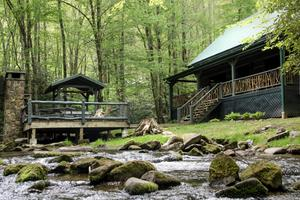 Luxury Wooden Cabin with Game Room in Nantahala National Forest