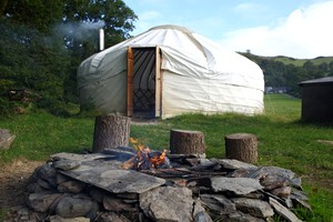 Stunning Yurt Rentals at Eco-Friendly Site in the Mountains of Powys, Wales