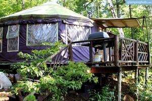 Luxurious Yurt Adventure with Secluded Island in Adirondack Mountains, NY