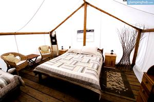 Luxurious Cabin-Tents at White Water Rafting Resort, British Columbia