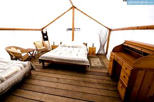 Luxurious Cabin-Tents Perfect for Couples at White Water Rafting Resort, British Columbia