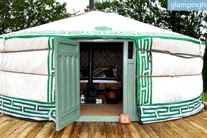 Exclusive Yurt Retreat Overviewing the Magnificent Sea, Cornwall, England, UK