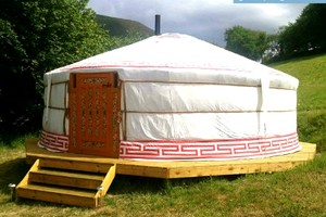 Authentic Mongolian Yurt on 60-Acre Hill Farm, Wales