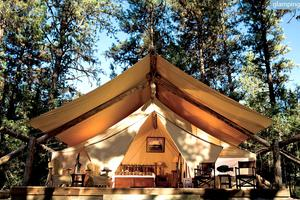 Luxury Cattle Ranch Resort with High-End Safari Tents in Montana