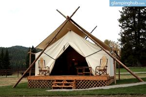Glamorous Camping Tents in Whitefish, Montana