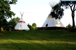 Stay in a Tipi near Diamond State Park, Arkansas