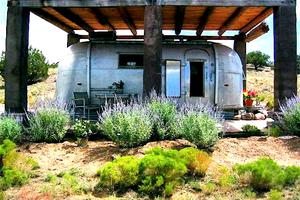 1960's Vintage Airstream Nestled in the Desert of New Mexico
