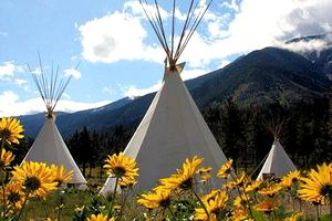 Tipi Camp in Family-Oriented Whitewater Rafting Resort, British Columbia