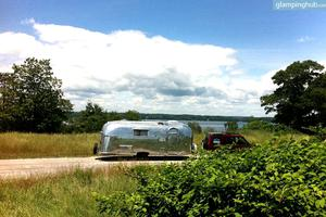 Stay in a Shiny Silver Vintage Airstream, Maine