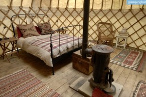 Rustic Chic Yurts in Fairy-Tale Woodlands near Portsmouth, England