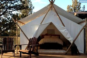 All-Inclusive Spa & Resort with Luxury Safari Tents near Bend, Oregon