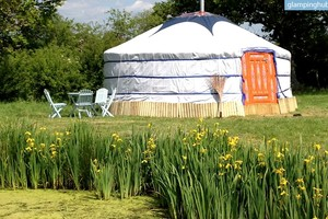Authentic Mongolian Yurt Overlooking South Downs National Park, England