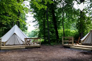Beautiful Luxury Bell Tents near Stroudsburg, Pennsylvania