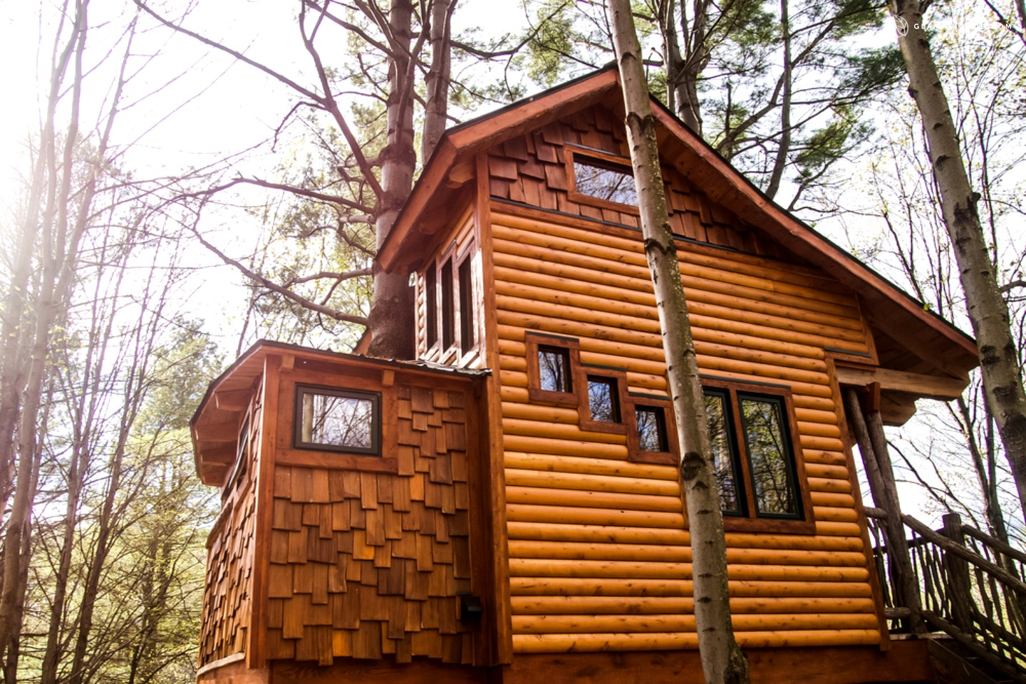 Photo of Beautiful Two-Story Tree House in the Green Mountains, Vermont