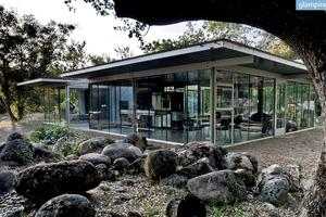 Breathtaking Glass Home Blends into Nature in Three Rivers, California