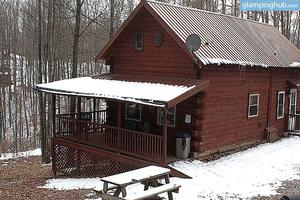 Cabins Surrounded by Daniel Boone National Forest, Kentucky