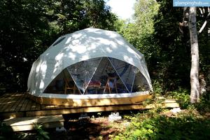 Forested Dome for Two Overlooking the Sea in Cape Breton Island, Nova Scotia, Canada