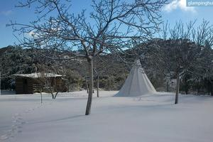 Beautiful and Authentic Tipis Settled Within Mountains of Granada, Spain