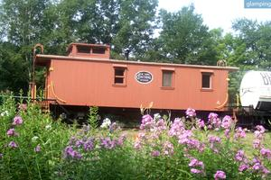 Vintage 1919 Wooden Caboose in Historic Small Town in Massachusetts