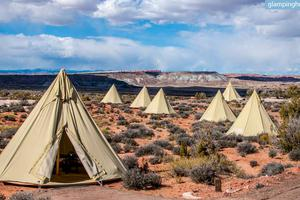 Chic Canvas Tipis in the Desert in Moab, Utah