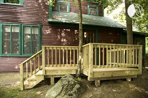 Luxury Camping Cabin Rental on Tupper Lake in the Adirondacks
