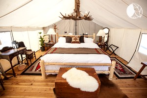 Beautiful Tent Rentals Set on a Camping Resort near Yellowstone National Park