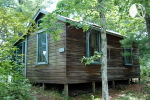 Petite Lakefront Cabin Rental, Perfect for Couples, near Cape Cod