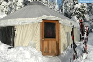 Cozy Yurts in Montana Backcountry in Southern Swan Mountains