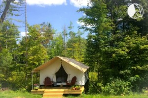 Cozy Tented Cabin Rental near the Hudson River in Upstate New York