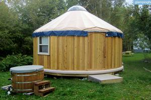 Cozy Yurts on Cape Breton Island, Canada