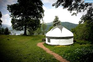 Cozy Yurts on Western Shore of Lake Windermere, England