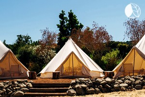 Deluxe Bell Tent Rentals at Glamping Site with Pool near San Francisco