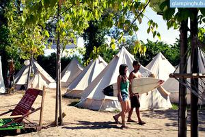 Beautiful Surf Camp Bell Tents near Lagos, Portugal