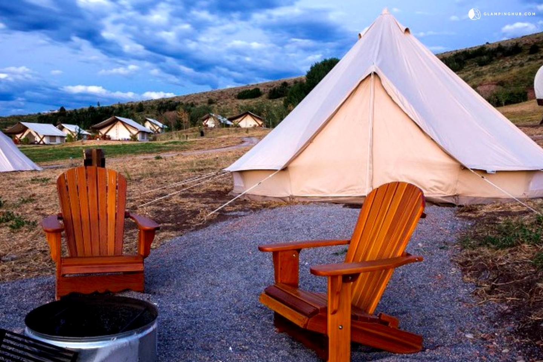 Bell tents for camping on bear lake utah for Weekend getaways in utah for couples