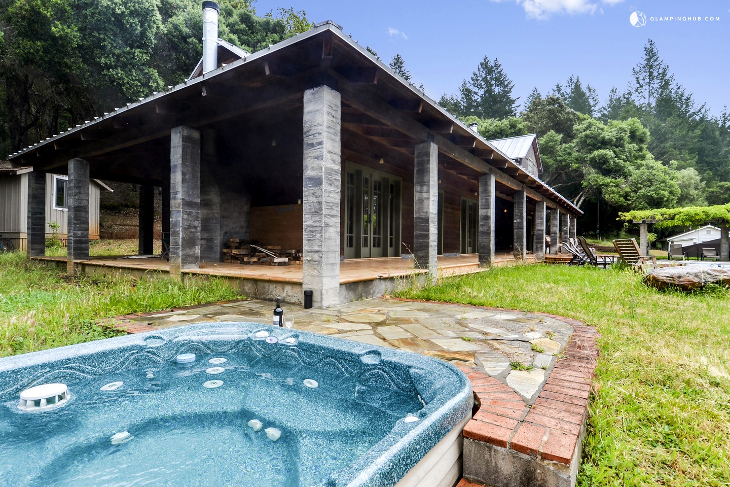 luxury cabin rental with pool for groups near santa rosa