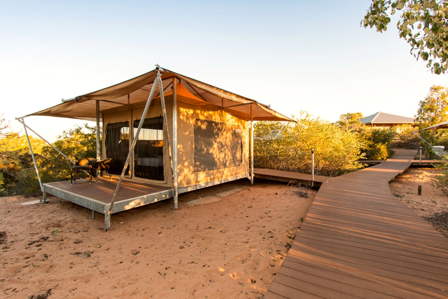 Luxury tents in broome with oceanfront walk to beaches for Eco beach house designs
