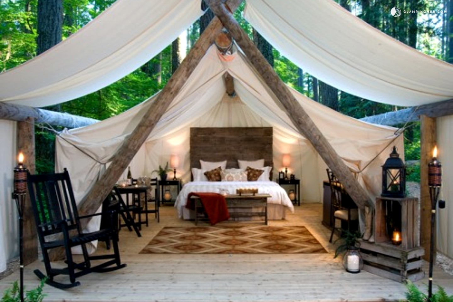 Exclusive Luxury Tent Cabins In Olympia Washington