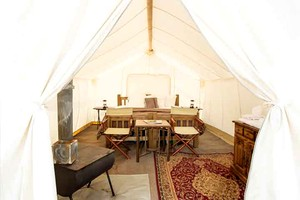 Exquisite Glamping Tents near Glacier National Park, Montana