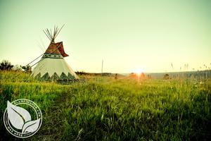 Fully Outfitted Tipis Overlooking Imposing Canyon, Northeast Oregon