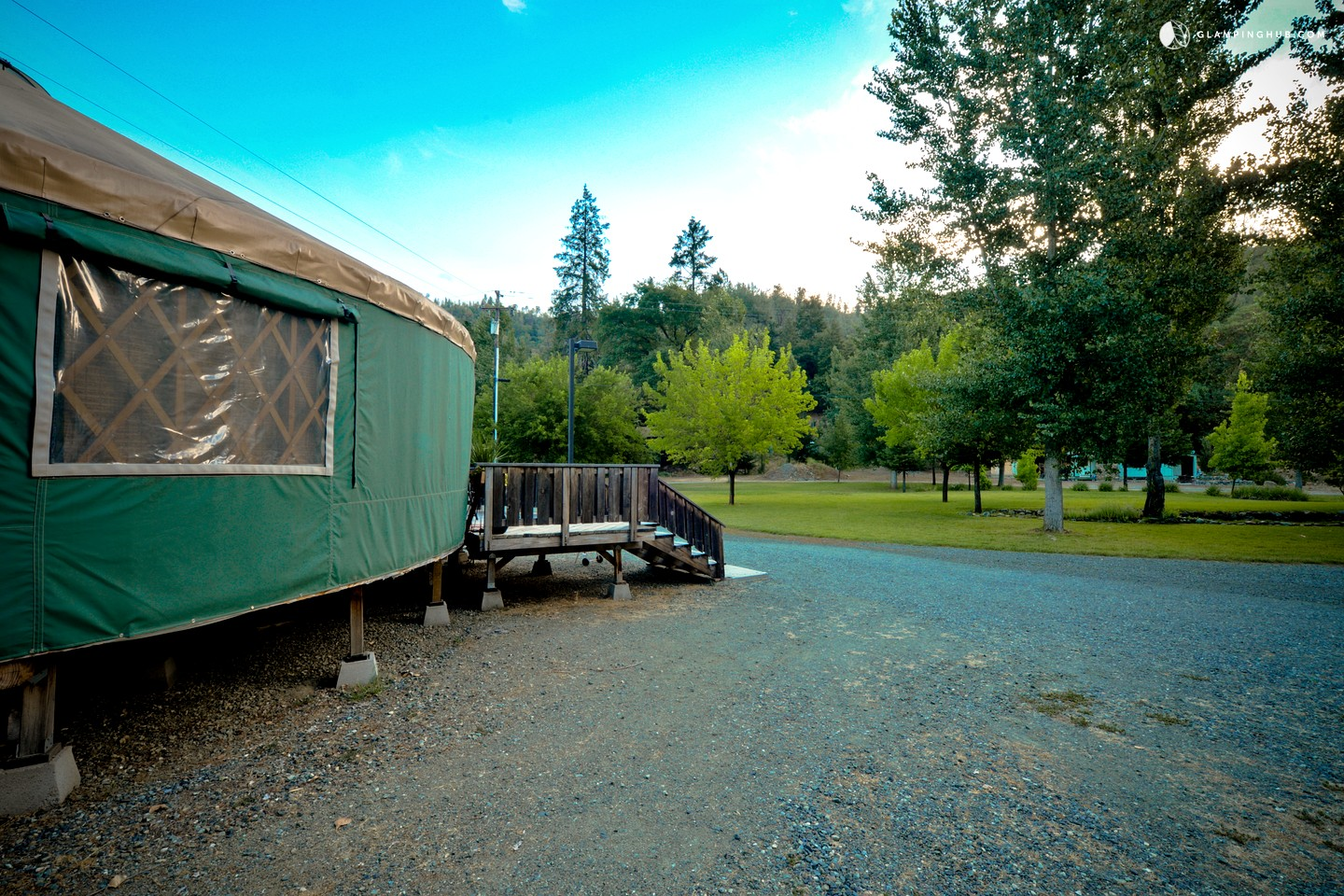 Photo of Fully Outfitted Yurt on Trinity River, Northern California