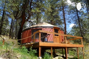 Eco-Friendly Luxury Yurt Nestled in San Juan National Forest, Colorado