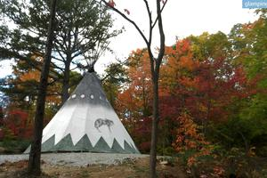 Hand-Painted Native American Tipis on Indiana Dude Ranch