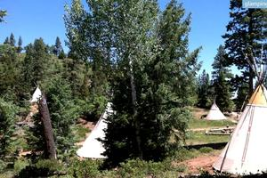 Hand-Painted Tipis in Secluded Wildlife Setting, Utah