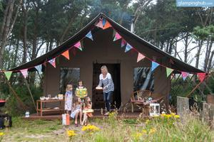 Luxurious Beach Tents with Modern Comforts in Dunbar, Scotland