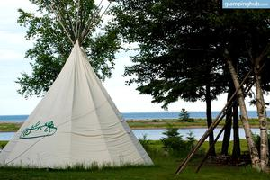 Intimate Tipi Snuggled Next to Cabot Trail, Nova Scotia, Canada