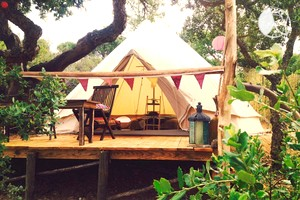 Charming Luxury Bell Tent Rentals with Lake Views near Lagos