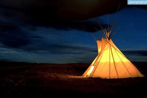 Authentic Native American Tipi Camping in Montana