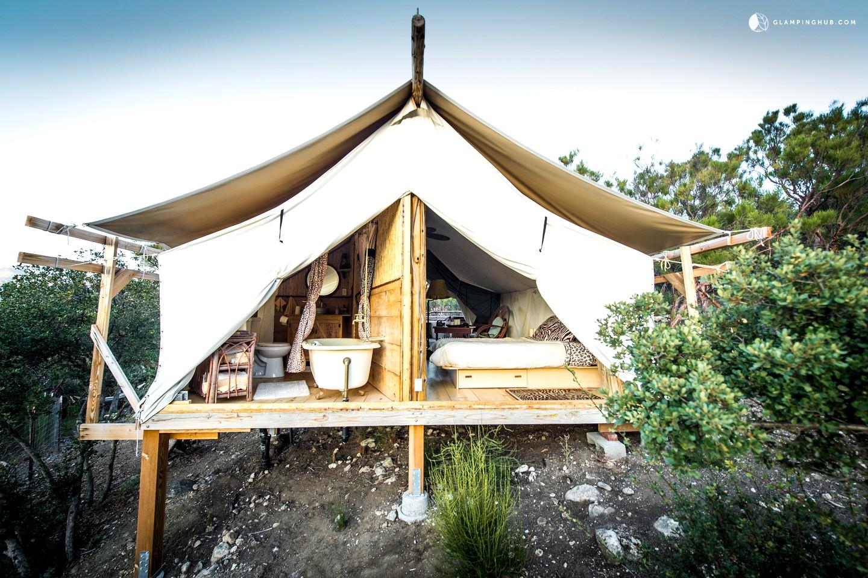 safari tent camping in california glamping in california. Black Bedroom Furniture Sets. Home Design Ideas