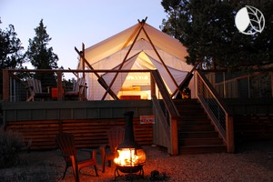 Luxurious Tents at Tranquil Spa & Glamping Resort near Bend, Oregon