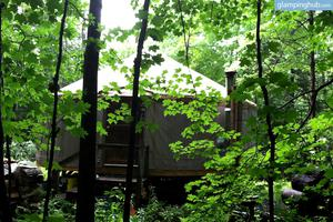 Luxury Camping in Cozy Yurt in Scenic Vermont